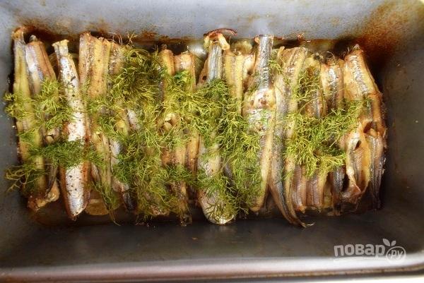 Мойва, запеченная в фольге в духовке