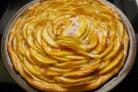 Яблочный пирог из слоеного дрожжевого теста