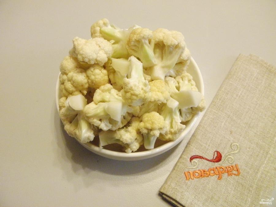 Цветная капуста в кляре с сыром