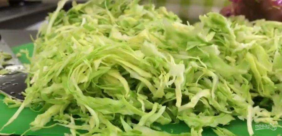 Легкий салат из капусты и соевого соуса