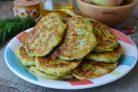 Кабачковые оладьи с сыром и зеленью