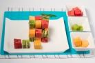 Фруктовый салат кубиками