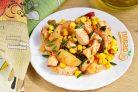 Курица с картофелем и кукурузой