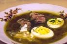 Суп с яйцом и мясом