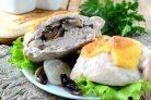 Кармашки из куриного филе с грибами