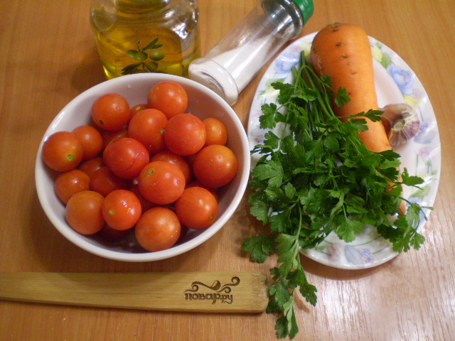 Помидоры с морковкой и чесноком