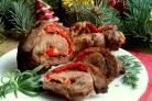 Новогодний рулет из говядины