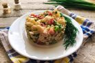 Салат с курицей и цветной капустой
