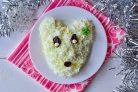 Новогодний салат Крысенок