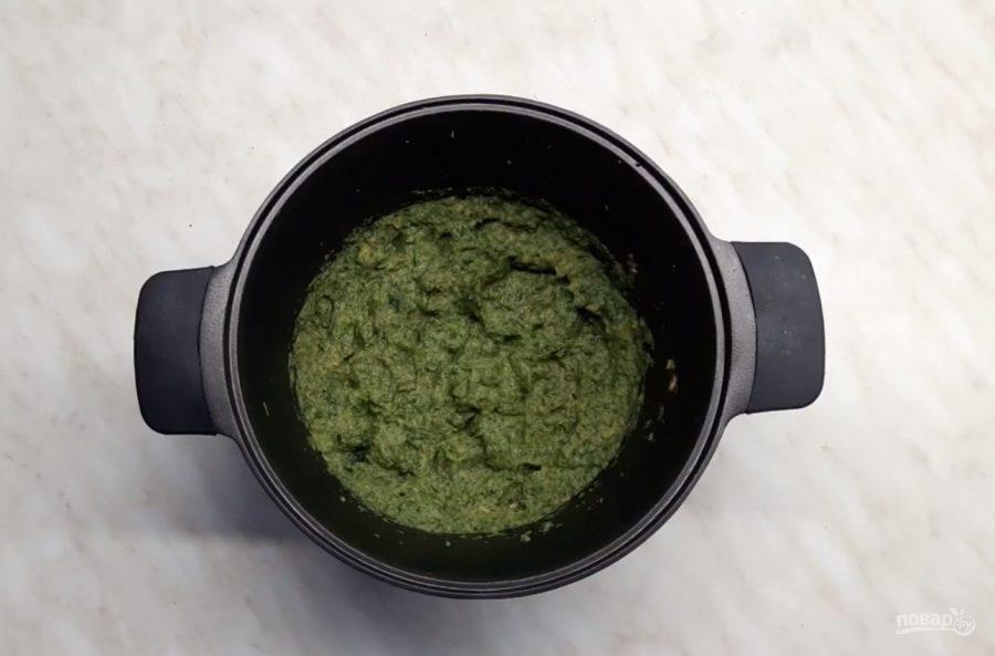 Суп из крапивы и сельдерея