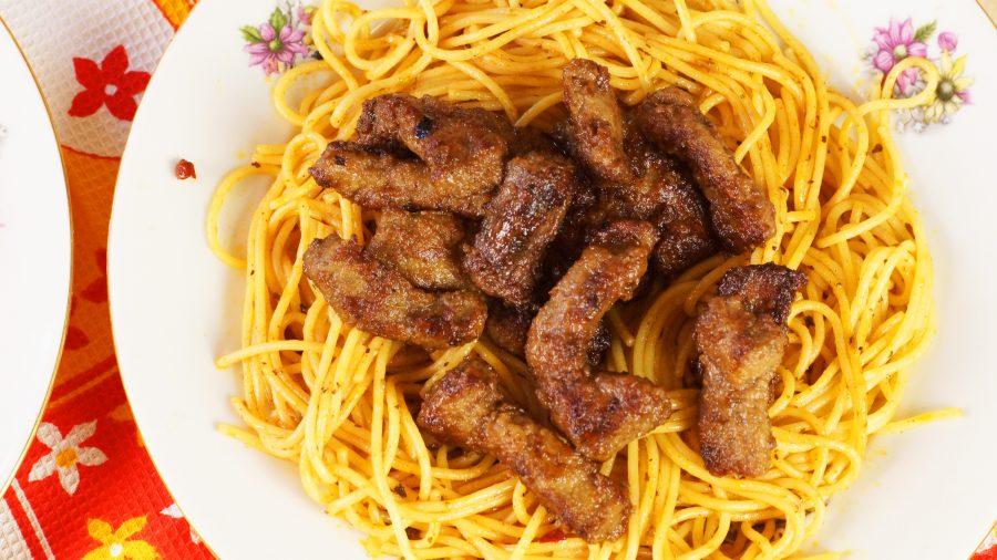 Печень говядины в коньяке