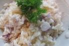 Салат с рыбой горячего копчения