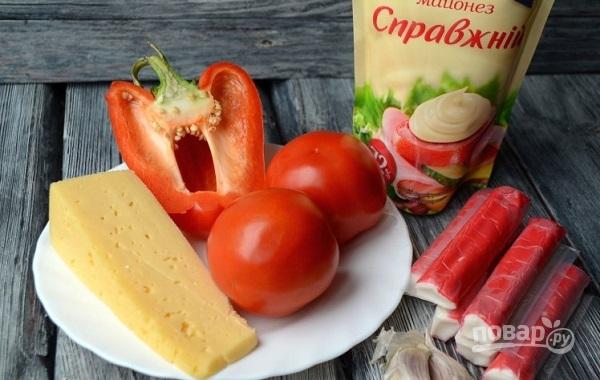 Салат из крабовых палочек с сыром