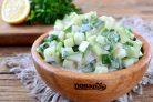 Диетический салат Огурец в йогурте