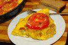 Сырный омлет с сухариками
