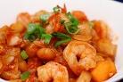 Креветки в кисло-сладком соусе