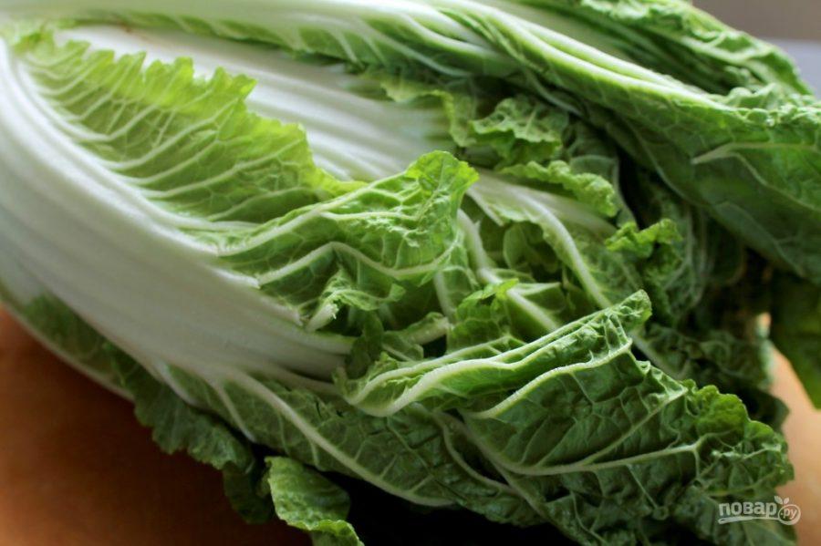 Салат из китайской капусты с морковью