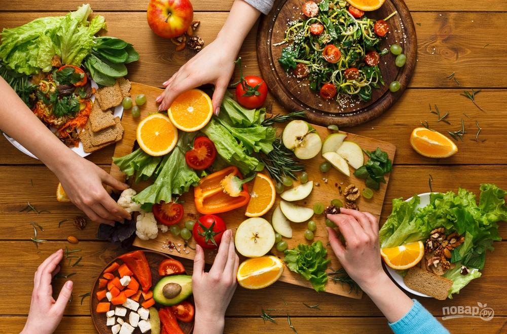 Фрукты и овощи для похудения