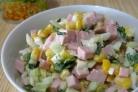 Салат с колбасой вареной