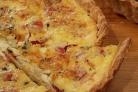 Французский пирог с кукурузой и помидорами