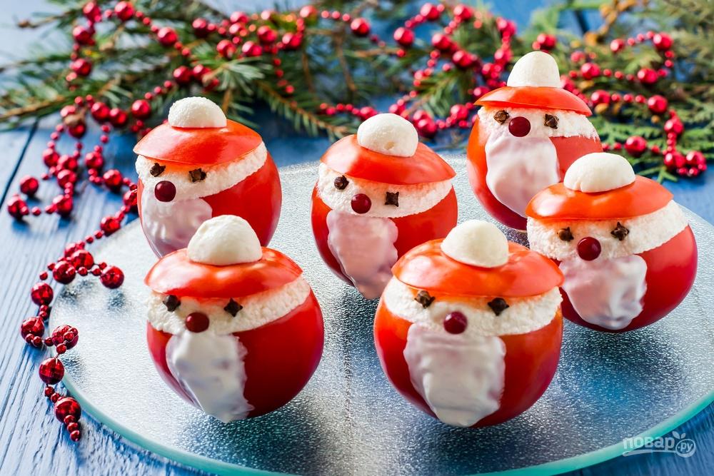 Фаршированные помидоры на Новый год