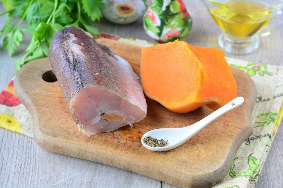 Рыба запеченная с тыквой