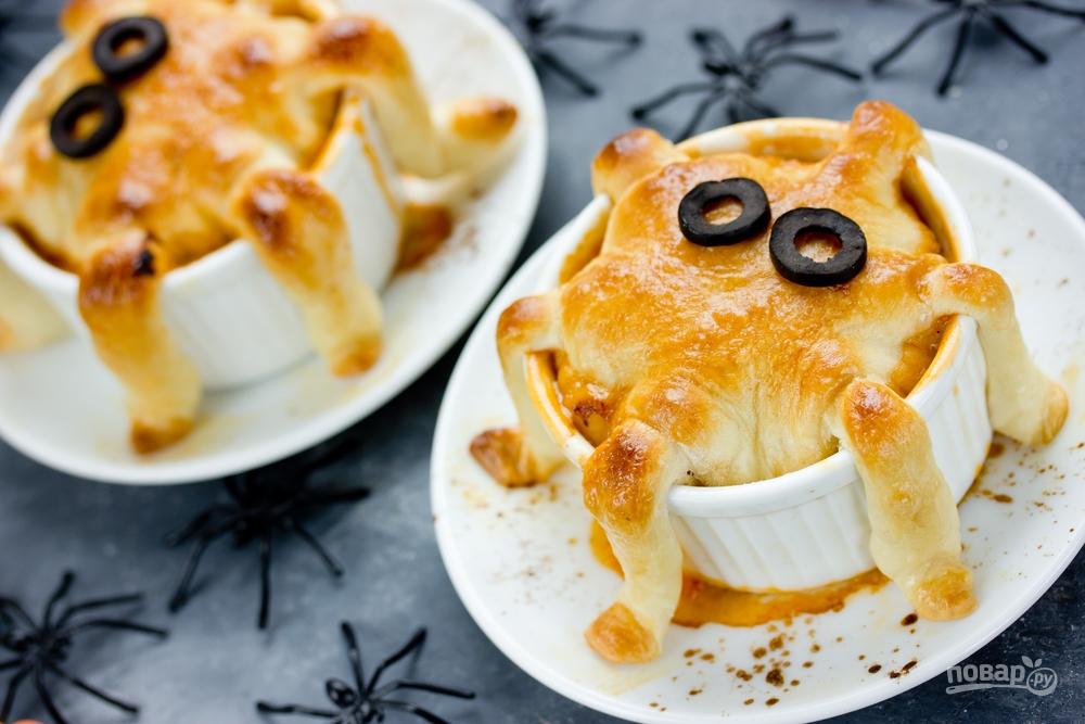 Мини-пироги в виде осьминога