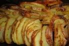 Картофель Гармошка с луком