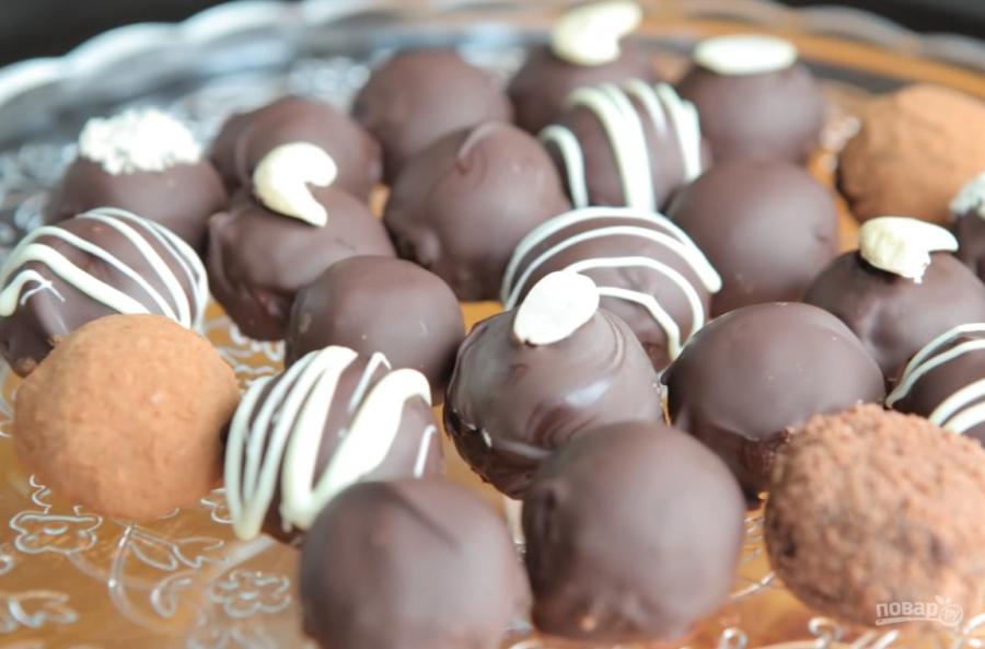 Шоколадные конфеты с орехами и коньяком