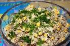 Салат из шпрот с сухариками