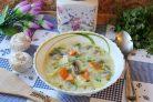 Грибной суп с молоком