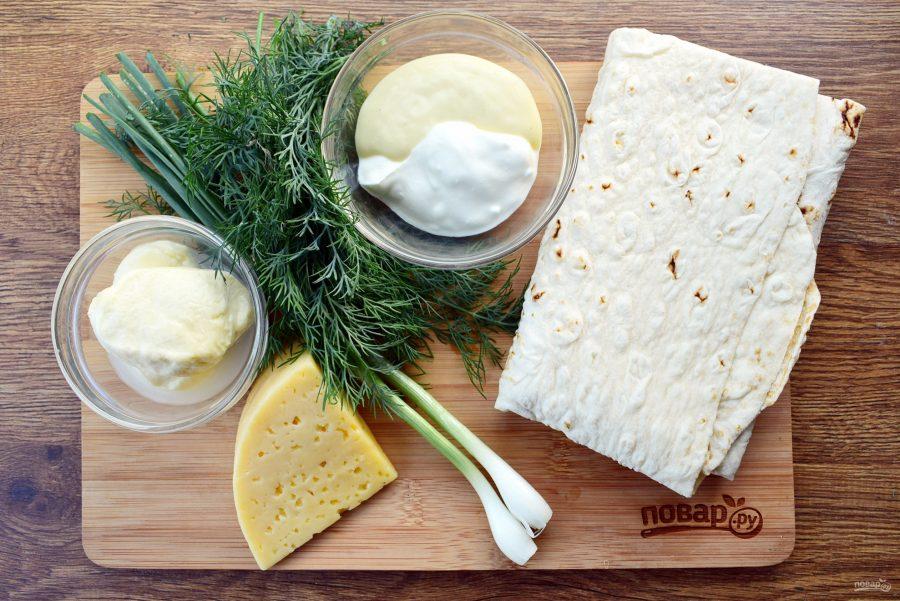 Лаваш с сыром жареный