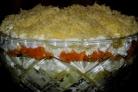 Салат из горбуши и картофеля