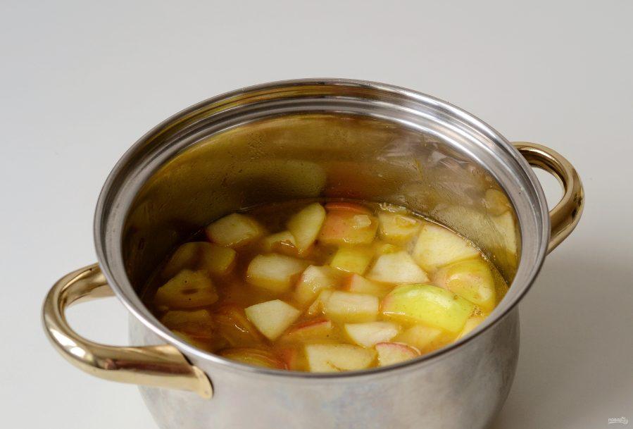 Приготовление яблочного супа