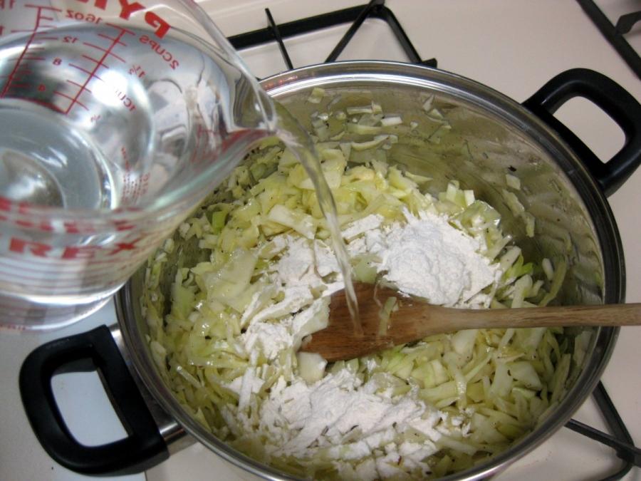 Постный суп из капусты