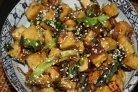 Баклажаны, жаренные в медовом соевом соусе
