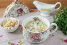 Сырный швейцарский суп