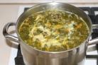 Щавелевый суп без картошки