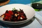 Черный рис с тофу и помидорами