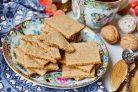 Гречневое печенье с семенами льна