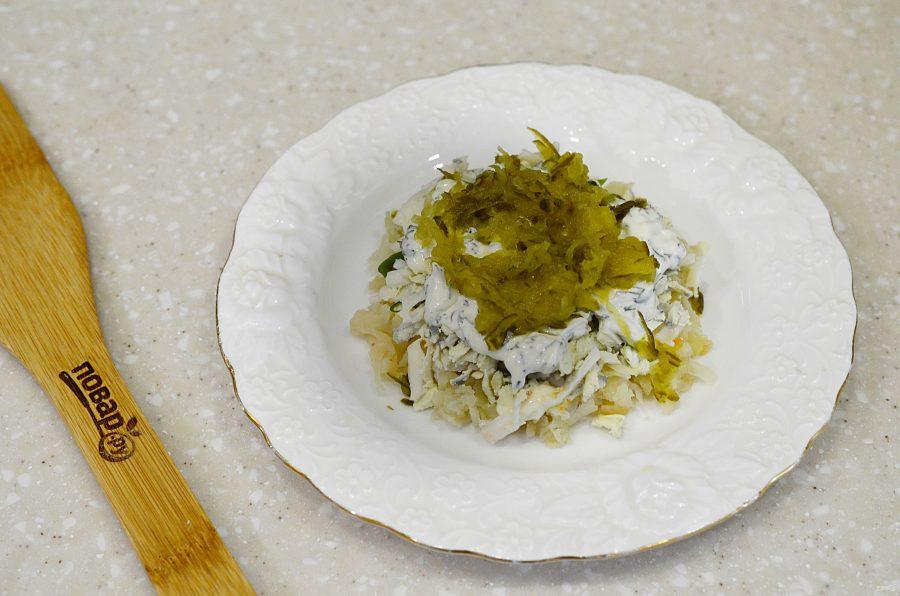 Овощной салат с яйцом