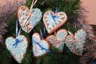 Расписное новогоднее печенье