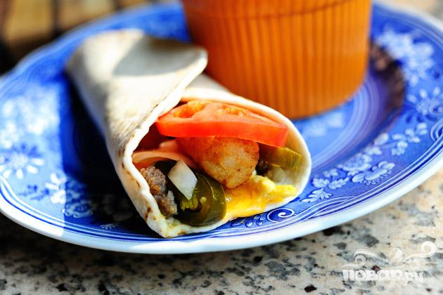Рецепт Рецепт Бурито на завтрак