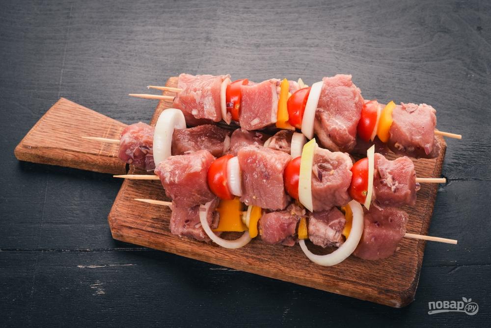 Размер мяса для шашлыка