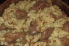 Печень с макаронами