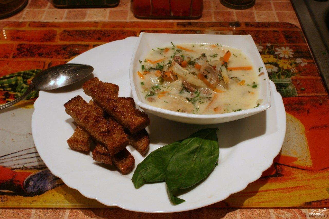 Суп-пюре из шампиньонов рецепты с фото   Супы рецепты с ...