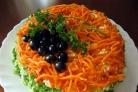 Салат с корейской морковкой и колбасой