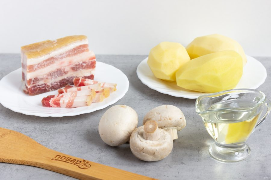 Ингредиенты для горячего из картошки
