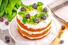 Изумрудный торт со шпинатом