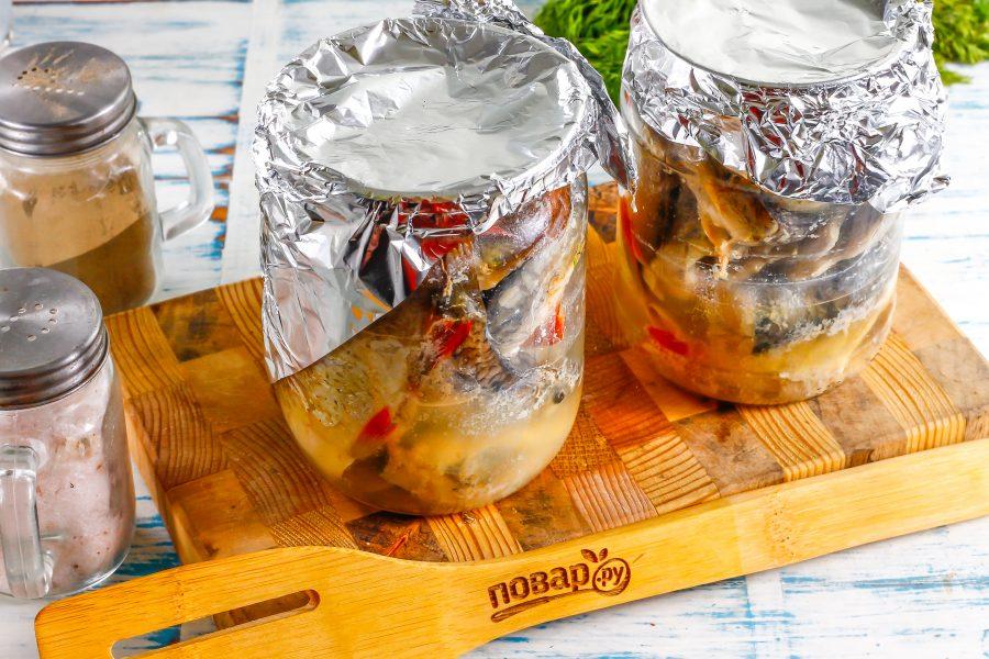 Приготовление рыбы в банке в духовке